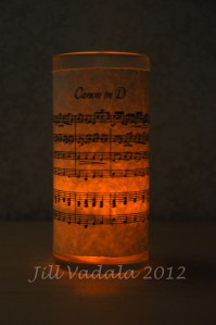 Lighted vase- Canon in D