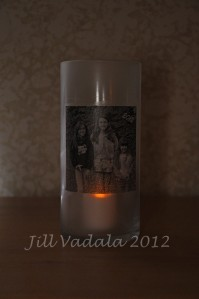 Lighted vase- my girls